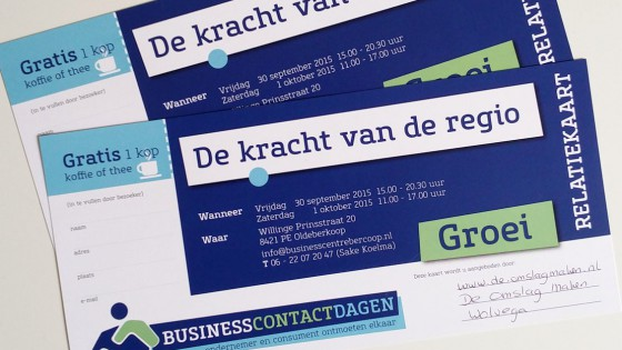 De Omslag Maken business contactdagen